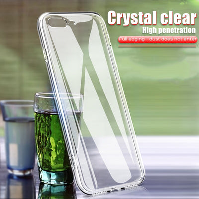 YOYIC Ultra Thin Soft Transparent TPU Case For IPhone 8 8 7 Plus 7 Clear Silicone Full Cover For IPhone X XS Case 6 Plus Cases