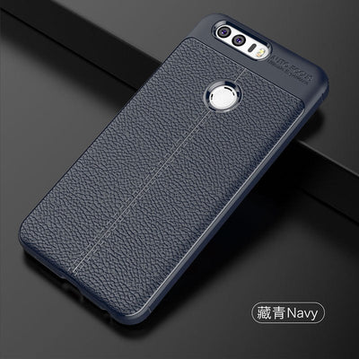 YSW For Huawei Honor 8 Case Carbon Fiber Soft TPU Brushed Anti-knock Back Cover Phones Case For Huawei Honor 8 Pro Shell Cover