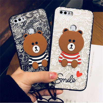 YSW For Huawei Honor 8 Lace Case Luxury Embroidered Hard PC Protective Cover For Huawei Honor 8 Lite Bumper