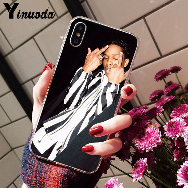 Yinuoda ASAP Rocky Rapper Transparent Soft Shell Phone Cover For Apple IPhone 8 7 6 6S Plus X XS MAX 5 5S SE XR Cover
