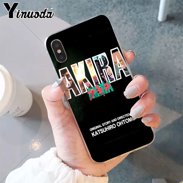 Yinuoda Akira 1988 Film Anime Logo TPU Soft Silicone Phone Case Cover For IPhone 8 7 6 6S Plus 5 5S SE XR X XS MAX Coque Shell