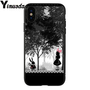 Yinuoda Alice In Wonderland DIY Luxury High-end Protector Case For Apple IPhone 8 7 6 6S Plus X XS MAX 5 5S SE XR Mobile Cases