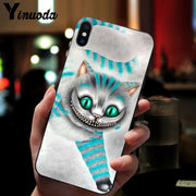 Yinuoda Alice In Wonderland TPU Soft Silicone Black Phone Case For Apple IPhone 8 7 6 6S Plus X XS MAX 5 5S SE XR Cover