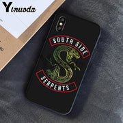 Yinuoda American TV Riverdale Painted LOGO TPU Soft Silicone Phone Cover For Apple IPhone 8 7 6 6S Plus X XS MAX 5 5S SE XR