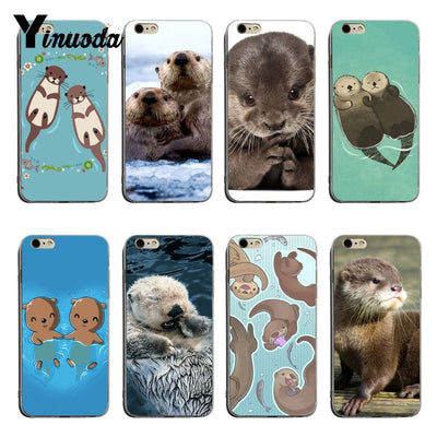 Yinuoda Animal Cute Baby Otter Soft Tpu Phone Case Cover For IPhone 6plus 6s 7plus 8plus X XS XR Coque Shell