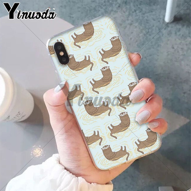 Yinuoda Animal Otter Custom Photo Soft Phone Case For IPhone 8 7 6 6S Plus 5 5S SE XR X XS MAX Coque Shell