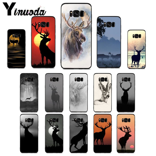 Yinuoda Animals Elk Cute Ancient Case For Samsung S5 S6 S7 S8 S9 S6plus S7plus S8plus S9plus S6edge S7edge S6edge Plus