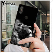 Yinuoda Animals The Lion Soft Rubber Black Phone Case For Xiaomi Mi 6 8 Se Note2 3 Mix2 Redmi 5 5plus Note 4 5 5 Cover