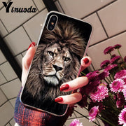 Yinuoda Animals The Lion Transparent TPU Soft Silicone Phone Cover For Apple IPhone 8 7 6 6S Plus X XS MAX 5 5S SE XR Cellphones