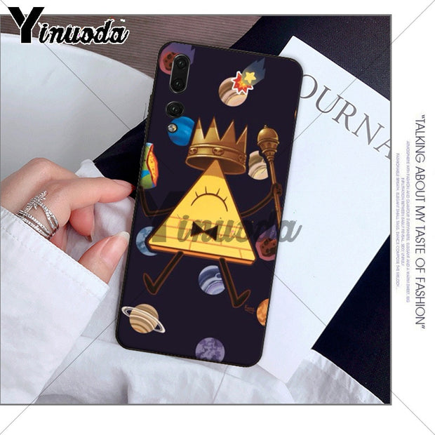Yinuoda Anime Gravity Falls Family Black Phone Case For Huawei P10 Plus 20 Pro P20 Lite Mate9 10 Lite Honor 10 View10 Cover