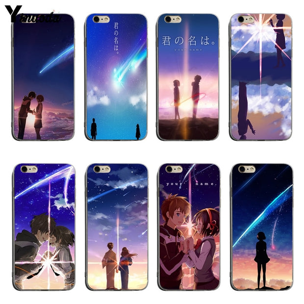 Yinuoda Anime Your Name Kimi No Na Wa Coque Phone Cases For Iphone 6 6plus 7 7plus 8 8plus X Xs Xr Xsmax