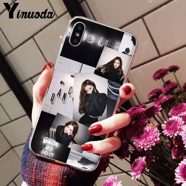 Yinuoda BLACKPINK ROSE Kpop Transparent TPU Soft Silicone Phone Case For IPhone 8 7 6 6S Plus 5 5S SE XR X XS MAX Coque Shell