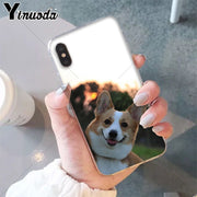 Yinuoda Best Friend Animal Corgi Smart Cover Soft Shell Phone Case For Apple IPhone 8 7 6 6S Plus X XS MAX 5 5S SE XR