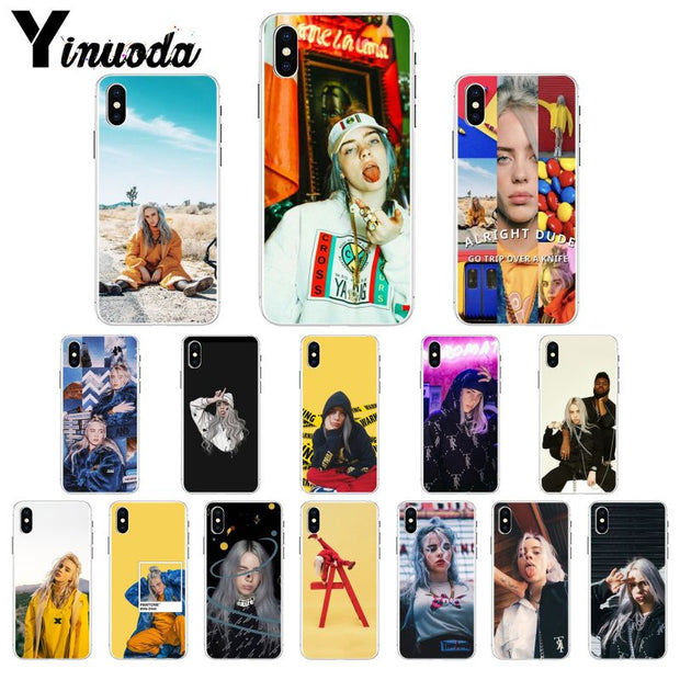 Yinuoda Billie Eilish Khalid Lovely Transparent TPU Silicone Phone Cover For IPhone 8 7 6 6S Plus X XS MAX 5 5S SE XR Cellphones