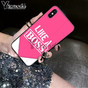 Yinuoda Bitch Mode On Pink Boos Smart Cover Black Soft Shell Phone Case For IPhone X XS MAX 6 6s 7 7plus 8 8Plus 5 5S SE XR