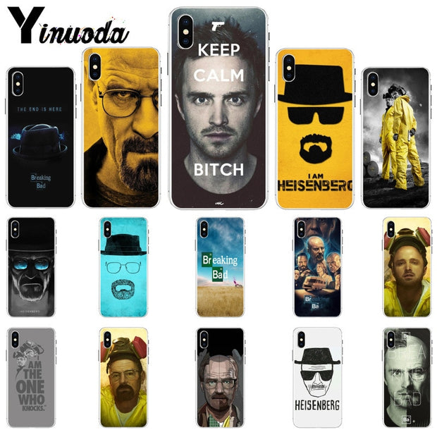 Yinuoda Breaking Bad Colorful Cute Phone Accessories Case For IPhone 8 7 6 6S Plus 5 5S SE XR X XS MAX Coque Shell