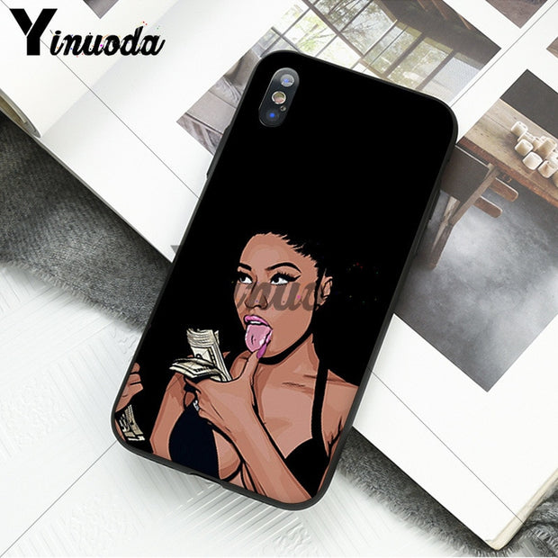 Yinuoda Cardi B Nicki Minaj Luxury Unique Design Phone Cover For Apple IPhone 8 7 6 6S Plus X XS MAX 5 5S SE XR Mobile Cases