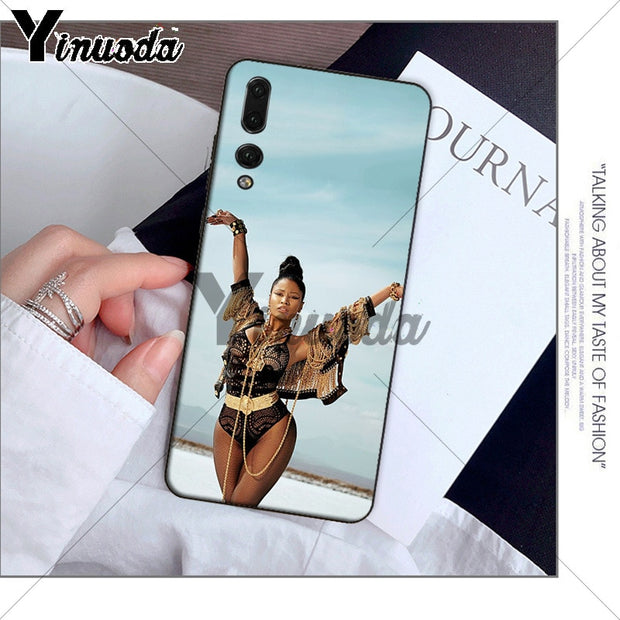 Yinuoda Cardi B Nicki Minaj TPU Black Phone Cover For Huawei P10 Plus 20 Pro P20 Lite Mate9 10 Lite Honor 10 View10 Mobile Cases
