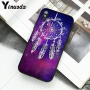 Yinuoda Carved Vintage Dream Catcher Campanula Smart Cover Phone Case For Apple IPhone 8 7 6 6S Plus X XS MAX 5 5S SE XR