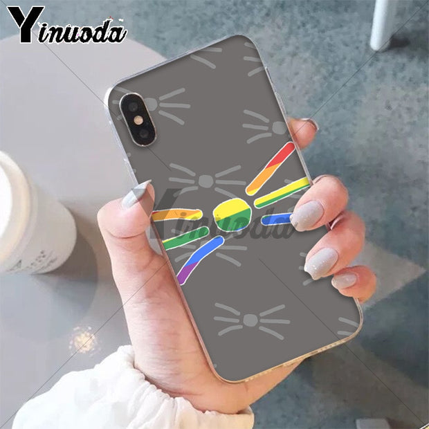 Yinuoda Cat Animal Pattern Dan And Phil Luxury Unique Design Phone Cover For Apple IPhone 8 7 6 6S Plus X XS MAX 5 5S SE XR