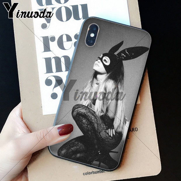Yinuoda Cat Ar Ariana Grande Newly Arrived Black Cell Phone Case For IPhone 6S 6plus 7 7plus 8 8Plus X Xs MAX 5 5S XR