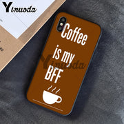 Yinuoda Coffee Wine Boo Newly Arrived Black Cell Phone Case For IPhone 8 7 6 6S Plus 5 5S SE XR X XS MAX Coque Shell