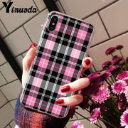 Yinuoda Colorful Lattice Stripes Pattern TPU Phone Accessories Cell Phone Case For IPhone X XS MAX 6 6S 7 7plus 8 8Plus 5 5S XR