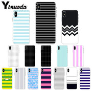 Yinuoda Colorful Stripes Black And White Beautiful Phone Accessories Case For Apple IPhone 8 7 6 6S Plus X XS MAX 5 5S SE XR