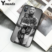 Yinuoda Conor McGregor Black TPU Soft Rubber Phone Cover For Apple IPhone 8 7 6 6S Plus X XS MAX 5 5S SE XR Mobile Cover