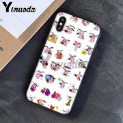 Yinuoda Courage The Cowardly Dog Colorful Cute Phone Accessories Case For Apple IPhone 8 7 6 6S Plus X XS MAX 5 5S SE XR