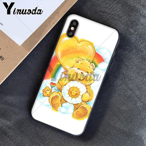 Yinuoda Cute Cartoon Care Bears Novelty Fundas Phone Case Cover For Apple IPhone 8 7 6 6S Plus X XS MAX 5 5S SE XR Cover