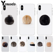 Yinuoda Cute Hamster Ass Hair Ball High Quality Soft TPU Phone Case For IPhone 8 7 6 6S Plus X XS Max 10 5 5S SE XR Shell
