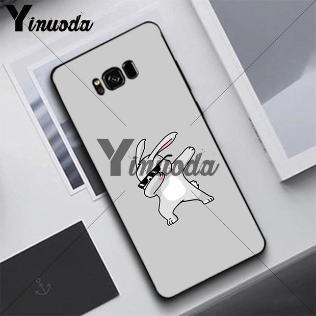 Yinuoda Cute Animal Handsome Case For Samsung S5 S6 S7 S8 S9 S6plus S7plus S8plus S9plus S6edge S7edge S6edge Plus