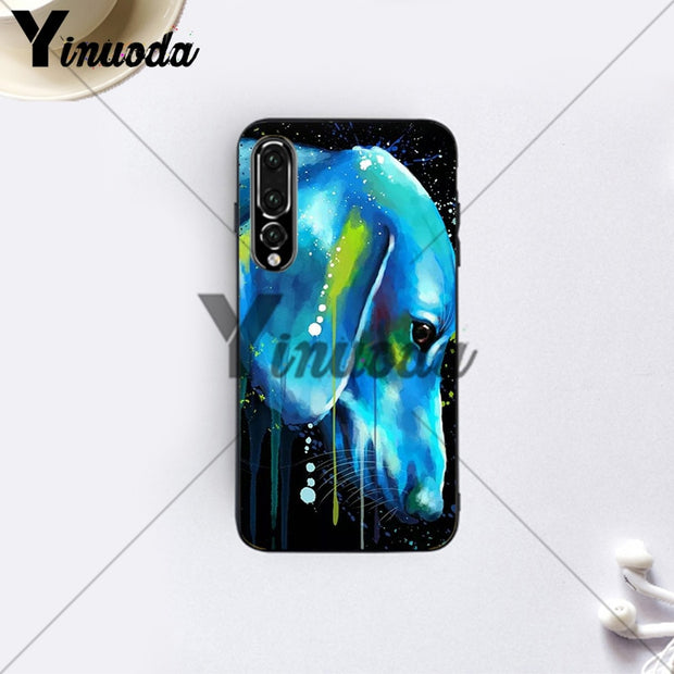 Yinuoda Dachshund And Flower Exotic Animal Coque Shell Cute Abatract Case For Huawei P10 Huawei P10 Plus P20 P20 Pro P20 Lite