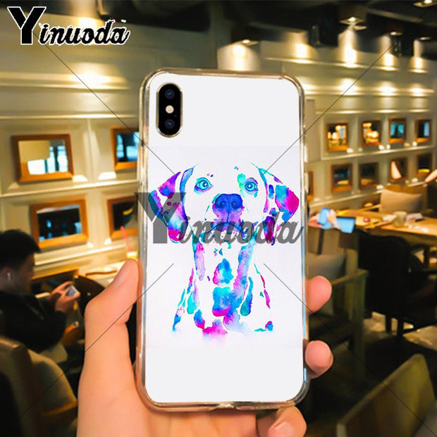 Yinuoda Dachshund Doxie Flower Dog Case For IPhone X XS MAX 6 6s 7 7plus 8 8Plus 5 5S SE XR