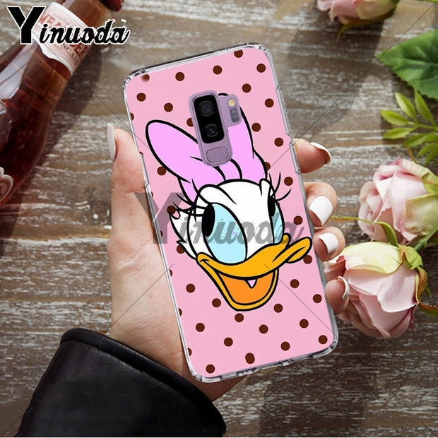 Yinuoda Donald Duck Luxury Unique Design Phone Cover For Samsung S9 S9 Plus S5 S6 S6edge S6plus S7 S7edge S8 S8plus