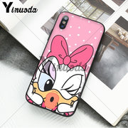 Yinuoda Donald Duck Luxury Unique Design Phone Cover For IPhone 6S 6plus 7 7plus 8 8Plus X Xs MAX 5 5S XR