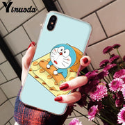 Yinuoda Doraemon Custom Photo Soft Phone Case For Apple IPhone 8 7 6 6S Plus X XS MAX 5 5S SE XR Mobile Cases