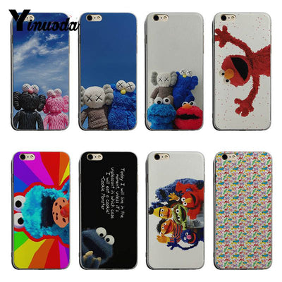 Yinuoda ELMO COOKIE MONSTER Sesame Street Hot Printed Cool Phone Accessories Case For IPhone 6 6plus 7 8plus X XS XR XSMax