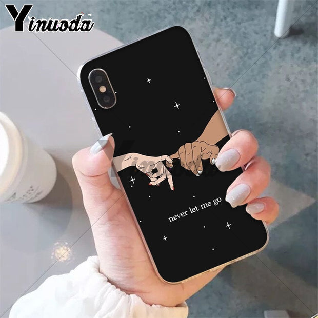 Yinuoda Finger Art Pink Love Pinky Swear Pattern Accessories Cell Phone Case For Apple IPhone 8 7 6 6S Plus X XS MAX 5 5S SE XR