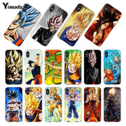 Yinuoda For IPhone 7 X 6 XR XS MAX Case Dragon Ball Goku DragonBall Coque Phone Case For IPhone 8 7 6 6S Plus 5S SE XS XR XSMAX