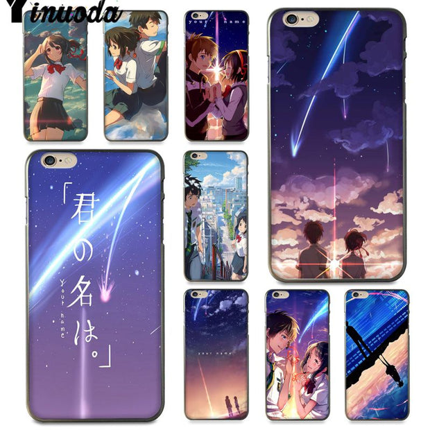 Yinuoda For Iphone 7 6 X Case Kiminonawa Your Name Japanese Anime Cute Phone Case For IPhone 6S 6 7 8 Plus 5S XS XR XSMAX