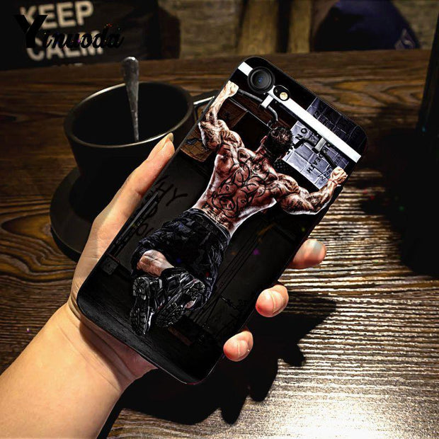 Yinuoda For Iphone 7 6 X Case Loving Bodybuilding Gym Exquisite Phone Case For IPhone X 6 7 6s 7plus 8 8Plus XS XR 5C SE Case