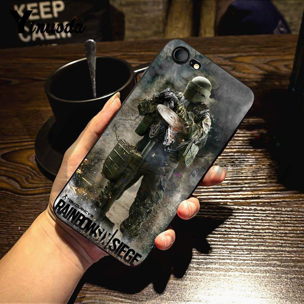 Yinuoda For Iphone 7 6 X Case Rainbow Six Siege Operation Black Ice Phone Case For IPhone 7 6 X Case 6S 6plus 7 7plus 8 8Plus X