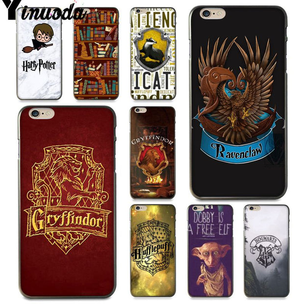 Yinuoda For Iphone 7 6 X Case Harry Potter Gryffindor Hufflepuff Ravenclaw Phone Case For IPhone 8 6S Plus 5S SE XR XS XSMAX
