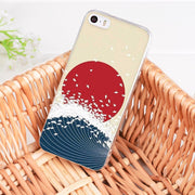 Yinuoda For Iphone 7 X 6 XR XS MAX Case Wave Art Japanese Green Illust Coque Phone Cases For IPhone 8 7 6 6S Plus X XS XR XSMAX