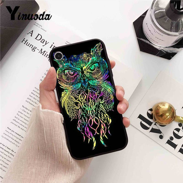 Yinuoda For Iphone 7 XSMAX Case Owl And Dream Catcher Splendid Phone Accessories Case For IPhone 7 6 X 8 6s Plus 5S SE XR XS MAX