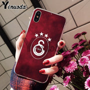 Yinuoda Galatasaray SK Soft TPU Silicone High Quality Phone Case For IPhone 8 7 6 6S Plus X XS Max 10 5 5S SE XR Coque Shell