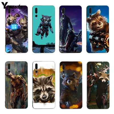 Yinuoda Guardians Of The Galaxy Movie Rocket Raccoon Coque For Huawei Honor 9 10 V9 V10 P9 P10 P10plus P20 P20pro