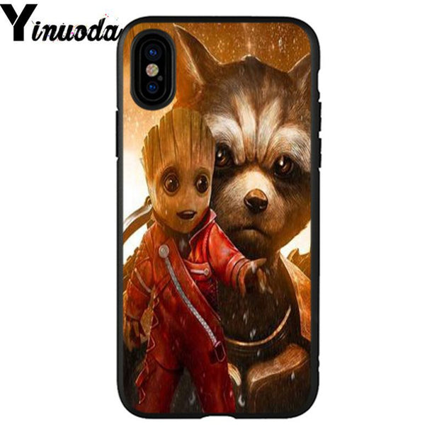 Yinuoda Guardians Of The For Galaxy Marvel Colorful Cute Phone Accessories Case For IPhone X XS MAX 6 6s 7 7plus 8 8Plus